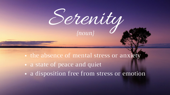 The Gift of Serenity