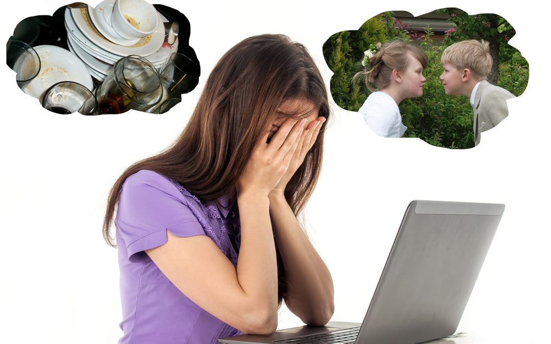 Woman dealing with common sources of stress